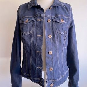 Reitman's Dark Wash Denim Jacket Size 7